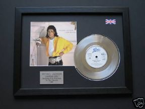 "MICHAEL JACKSON - Liberian Girl 7"" Platinum DISC with Cover"